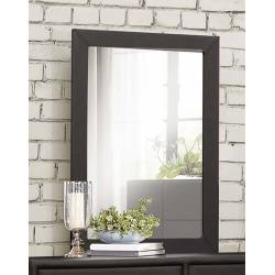 Lorenzi Upholstered Mirror - Black Vinyl