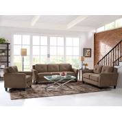 HARTFORD ROLLED ARM SOFA 3 PC SET LIGHT BROWN CCHRFKSM26BRRA-Gr
