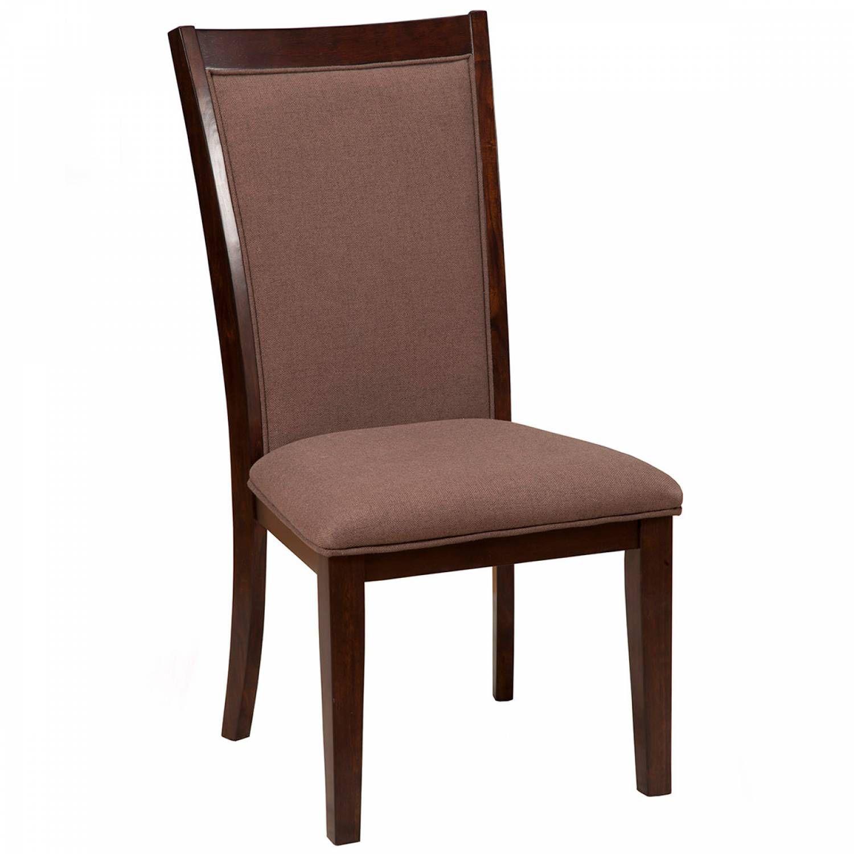 Peachy 6084 Alpine Furniture 6084 02 Trulinea Upholstered Dining Chairs Dark Espresso Finish Short Links Chair Design For Home Short Linksinfo