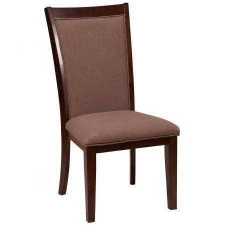 6084 Alpine Furniture 6084-02 Trulinea Upholstered Dining Chairs Dark Espresso Finish