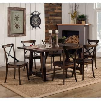 Enjoyable 5672 Alpine Furniture 5672 01 Arendal 7Pc Sets Rectangular Dining Table 6 Chairs Short Links Chair Design For Home Short Linksinfo