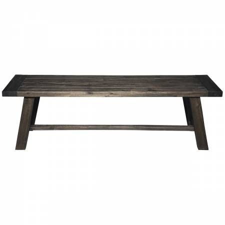 1468 Alpine Furniture 1468-24 Newberry Bench Salvaged Grey