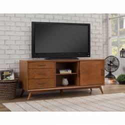 "966 Alpine Furniture 966-10 Flynn 64"" TV Console Acorn Brown Finish"