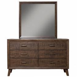 5074 Alpine Furniture 5074-03 Alcott 6 Drawer Dresser Tobacco Finish