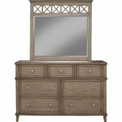 1055 Alpine Furniture 1055-03 Potter 7 Drawer Dresser French Truffle Finish