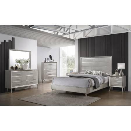 222701F-S5 5PC SETS Ramon Full Panel Bed  + Nightstand + Dresser + Mirror + Chest