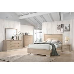222591Q-S4 4PC SETS QUEEN BED + DRESSER + NIGHTSTAND + MIRROR