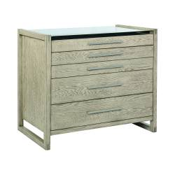 222857 Smithson 5-Drawer Rectangular Floating Chest Grey Oak