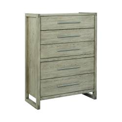 222855 Smithson 5-Drawer Rectangular Chest Grey Oak