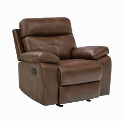 601693 Damiano Upholstered Glider Recliner Tri-Tone Brown