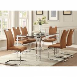 5178-60*5BRS 5PC SETS Dining Table + 5 Side Chairs