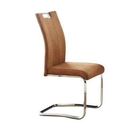 5178BRS Side Chair, Camel Brown