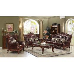 53065+53066+53067 3PC SETS Eustoma Collection Sofa + Loveseat + Chair