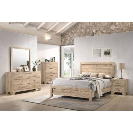28037EK-4PC 4PC SETS Miquell Eastern King Bed in Natural