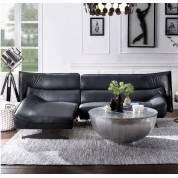 Maeko Sectional Sofa in Dark Gray Top Grain Leather - Acme Furniture 55060