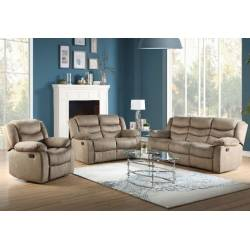 Angelina Sofa (Motion) in Light Brown Fabric - Acme Furniture 55040
