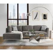 Varali Sectional Sofa in Gray Linen