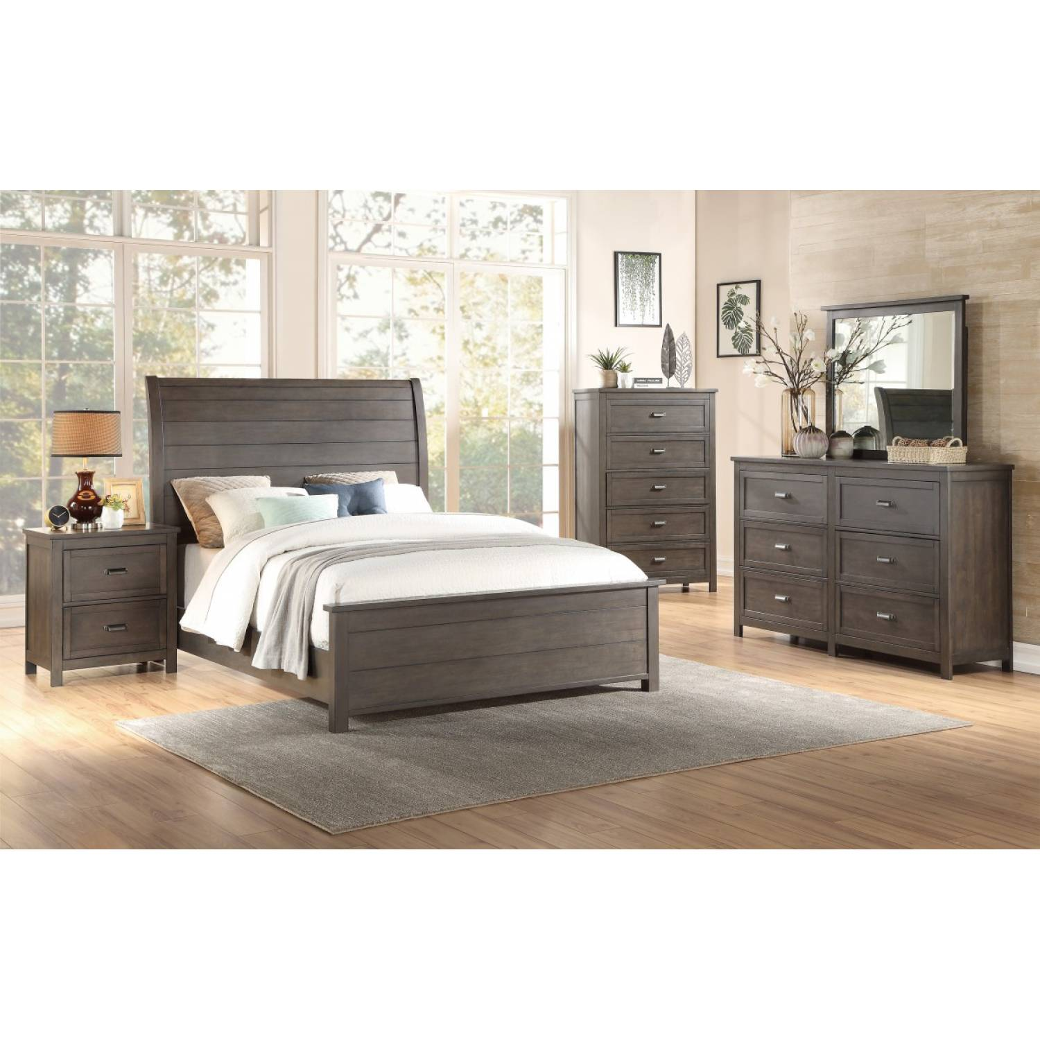 1923 Gr California King Sleigh Bedroom Set Hebron