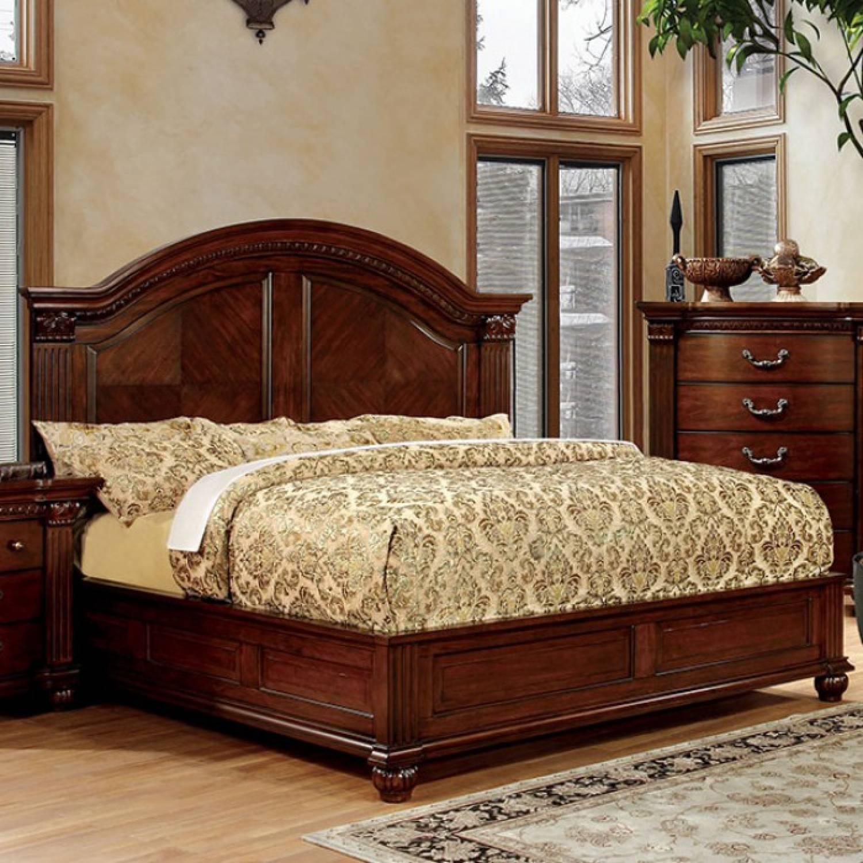 Cm7735 Wck Grandom Cal King Bed Wooden Headboard
