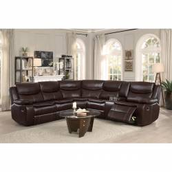 8230BRW*SC 3-Piece Sectional with Right Console Bastrop
