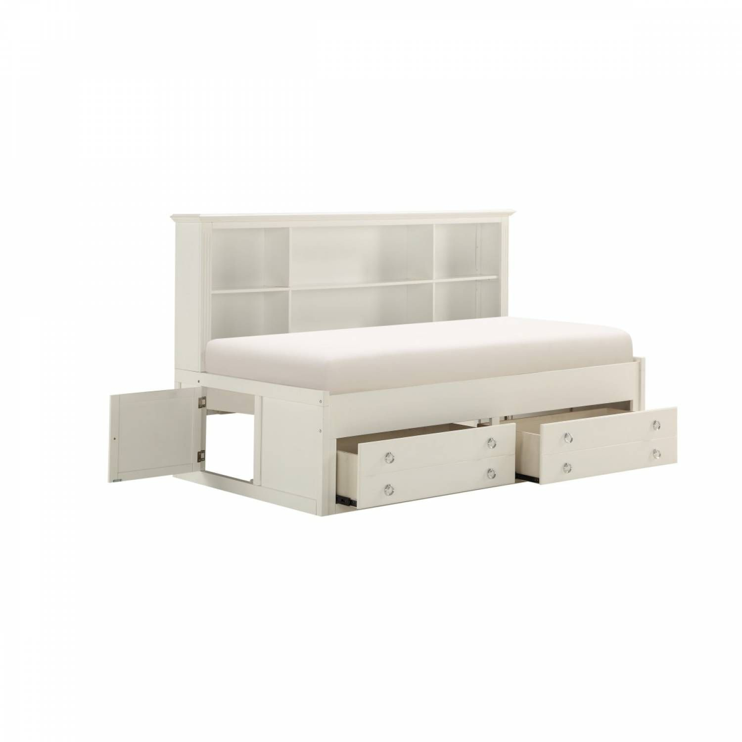 Picture of: 2058whprf 1 Full Lounge Storage Bed White Meghan