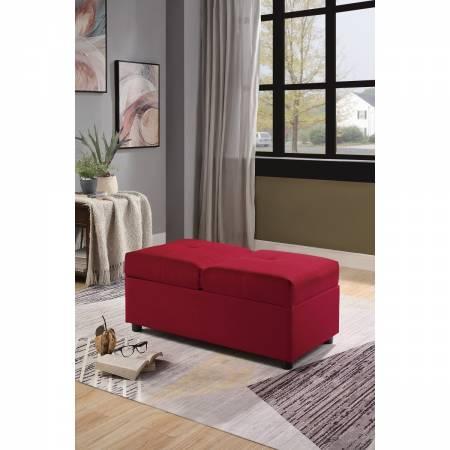 4573RD Storage Ottoman/Chair, Red Denby