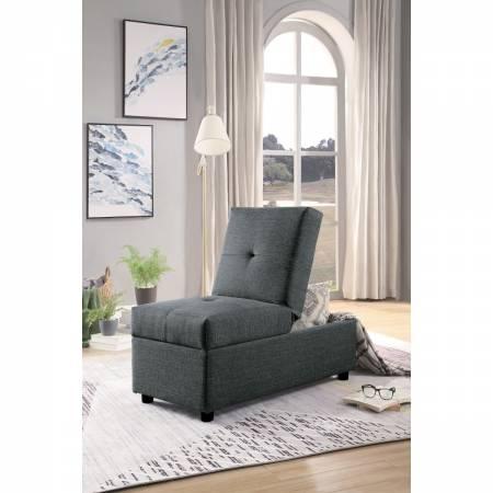 4573GY Storage Ottoman/Chair, Gray Denby