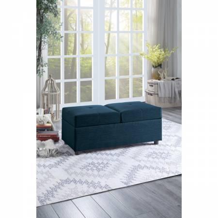 4573BU Storage Ottoman/Chair, Blue Denby