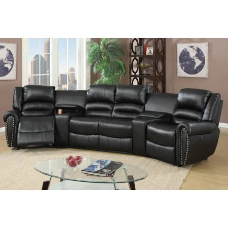 F86602 Power Theater Sectional