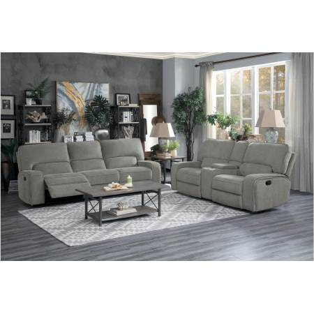 9849MC-2PWH+3PWH Power Double Reclining Sofa and Love Seat with Power Headrests and USB Ports Borneo