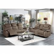 9848BR-2+3 Double Reclining Sofa and Love Seat with Drop-Down Cup Holders and Receptacles Shola