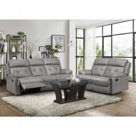 9529GRY-2+3 Double Reclining Sofa and Love Seat Lambent