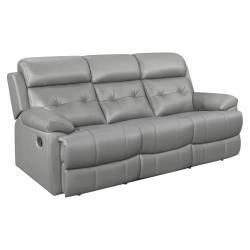 9529GRY-3 Double Reclining Sofa Lambent