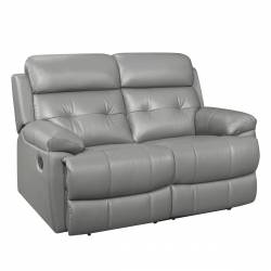 9529GRY-2 Double Reclining Love Seat Lambent