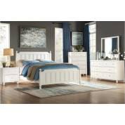 1803WF-1Gr Full Bedroom Set, White Wellsummer
