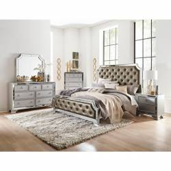 1646-QGr Avondale Queen Bedroom Set - Silver