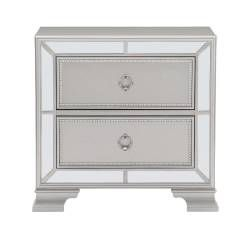 1646-4 Avondale Night Stand - Silver