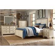 1626-CKGr Weaver California King Bedroom Set - Antique White