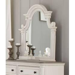 1624W-6 Baylesford Mirror - Antique White Rub-Through Finish