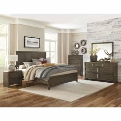 1619K-CKGr Seldovia California King Bedroom Set - Brown Gray