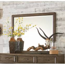 1619-6 Seldovia Mirror - Brown Gray