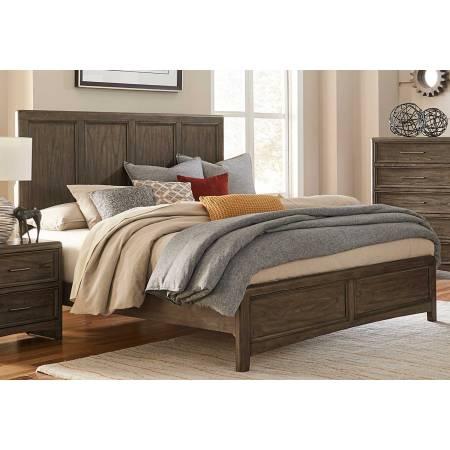 1619K-1CK Seldovia California King Bed - Brown Gray