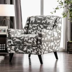 SM8171 PATRICIA ANIMAL PATTERN CHAIR