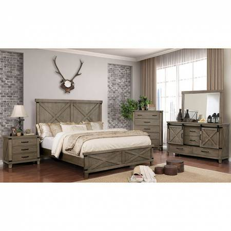 CM7734GY BIANCA 4PC SETS QUEEN BED