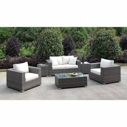 CM-OS2128-SET22 SOMANI LOVE SEAT + 2 CHAIRS + 2 END TABLES + COFFEE TABLE