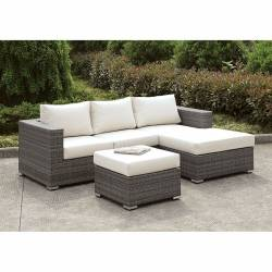 CM-OS2128-SET15 SOMANI SMALL L-SECTIONAL W/ RIGHT CHAISE + OTTOMAN