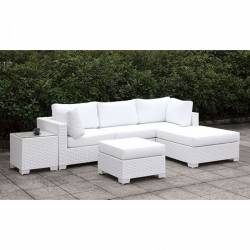 CM-OS2128WH-SET14 SOMANI II SMALL L-SECTIONAL W/ RIGHT CHAISE + OTTOMAN