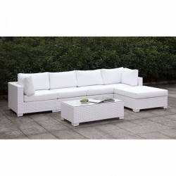 CM-OS2128WH-SET12 SOMANI II L-SECTIONAL W/ RIGHT CHAISE + COFFEE TABLE