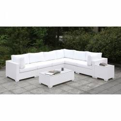 CM-OS2128WH-SET10 SOMANI II L-SECTIONAL + COFFEE TABLE