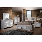 21700Q-4PC 4PC SETS IRELAND WHITE QUEEN BED